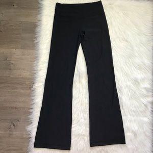 lululemon athletica Pants - Lululemon black reversible groove wide leg pants 4